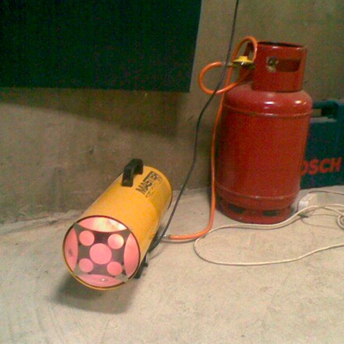 Газовая тепловая пушка для гаража своими руками